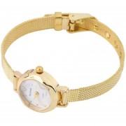 EY Señoras De Moda Para MujEY Slim Banda Ronda Reloj De Cuarzo Análogo Moda Vestido Oro.