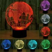 Europeo Estilo Globo Color Decoloración Creativo Visual 3d Estereo Touch Control De Interruptor De La Lampara De Luz Led Lampara De Escritorio Luz De Noche, Tamaño Del Producto: 21,4 X 17,1 X 8,7 Cm