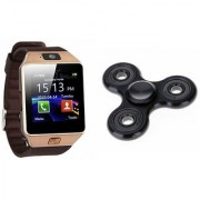Zemini DZ09 Smart Watch and Fidget Spinner for LG OPTIMUS G (DZ09 Smart Watch With 4G Sim Card Memory Card| Fidget Spinner)