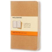 Moleskine Quaderno Cahier Journal pocket a righe beige. Kraft Bro...