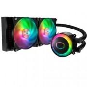 Водно охлаждане за процесор CoolerMaster MasterLiquid ML240R RGB, съвместимост с LGA 2066/2011-v3/2011/1151/1150/1155/1156/1366/775 & AMD AM4/AM3(+)/AM2(+)/FM2(+)/FM1