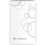 Твърд диск Transcend StoreJet, 2.5, USB 2.0/3.0, Бял, TS2TSJ25A3W