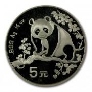 Panda Stříbrná mince 5 Yuan China 1/2 Oz 1993