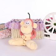 Mr. Bear & His Friends 30cm Small Monkey Plush Toys Large Feet Monkeys Pendant Stuffed Animals Dolls Children Kids Baby Birthday Gifts Car Décor - Pink