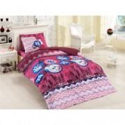 Lenjerie de pat copii Ranforce City V3 Pink