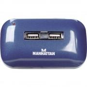 7-portni USB 2.0 hub 161039 Manhattan plavi