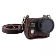 PULUZ® väska i läder med 40,5 mm UV Lens för GoPro HERO4 - Brun