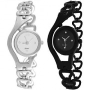 TRUE COLORS BLACK SILVER CHAIN COMBO BEST GIFT EVER Analog Watch - For Girls Women
