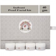 Indrani Pearl Facial Kit 40 gm For Whitening Your Skin (Scrub Gel Pack Cream) Oily Skin Dry Skin All Skin Types