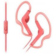 Спортни слушалки Sony Headset MDR-AS210AP, Splash-proof, Розови, MDRAS210APP.CE7