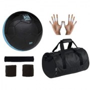 Combo of Manchestor City Black Football (Size-5) Kit Bag & Supporters