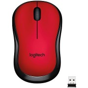 Logitech M220 Silent Wireless Mouse piros