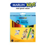 Marlin Kids Colour Pencils 24's Long, Retail