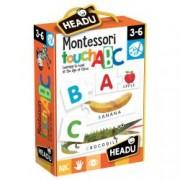 Joc Tactil Montessori Abc.Include 26 de perechi de cartonase cu insertii de auto-corectare.