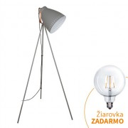 Tempo Kondela, Stojacia lampa, TORINO WA001-G, sivá
