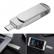 3-in-1 USB 2.0 + Type-C + Micro USB U Disk Flash Drive - 32GB