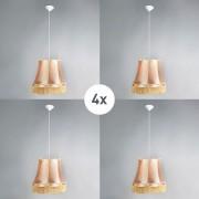 QAZQA Set of 4 retro hanging lamps gold 45 cm - Granny
