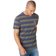 Rip Curl Scorched Stripe Mens Tee Washed Navy Washed Navy