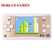 ZHISHAN Handheld Game Console Classic Retro Video Gaming Player Portable Arcade System Birthday Gift for Kids Recreation 2. 5 Color Lcd Built in 260 Games (Gold)