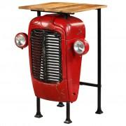 """Sonata Бар маса """"Трактор"""", мангово дърво масив, червена, 60x60x107 см"""