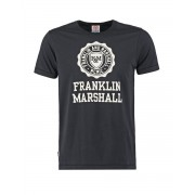 FRANKLIN AND MARSHALL Logo Tee Black