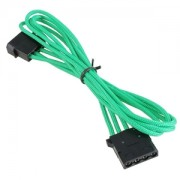 Cablu prelungitor BitFenix Alchemy 4-pini Molex, 45cm, green/black, BFA-MSC-MM45GK-RP