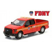 2015 Ford F 150 The Official Fire Department City Of New York Fdny Hobby Exclusive 1/64 By Greenlight 29833