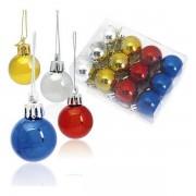 Globuri de Crăciun (12 pcs) Metalizat 143360 - Culoare Multicolor