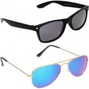 trend Aviator, Wayfarer Sunglasses(Blue, Grey)