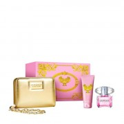 Versace Bright Crystal Eau De Toilette 90 ML + Body Lotion + Pochette