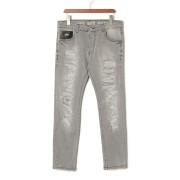 【62%OFF】JEANS ESTREMADURA クラッシュ デニム ジーンズグレー 34 ファッション > メンズウエア~~パンツ