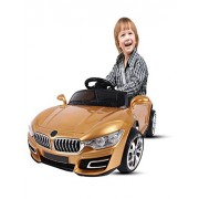 Battery Operated Kid Ride On Car With Remote Controlled (Optional Controller) (Gold)