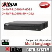 Cost Effective Dahua 6MP Network Video Recoder NVR4108HS-8P-HDS2 NVR4104HS-P-HDS2 4/8CH NVR Support ONVIF CGI Conformant
