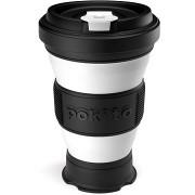 POKITO Összehajtható kávésbögre 3 az 1-ben szederfekete