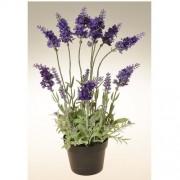 Floare artificială Lavandă în ghiveci violet închis, 38 cm