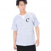 【SALE 42%OFF】コンフォートインデックス COMFORT INDEX ワッフルクルーネック半袖Tシャツ (ブルー)