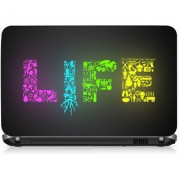 VI Collections Life Text Editz Printed Vinyl Laptop Decal 15.5
