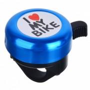 Amo mi bici Bell de aluminio del patron de la bici - negro + azul