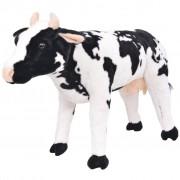 Sonata Плюшена детска кравичка за яздене, черно и бяло, XXL