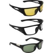Zyaden Round Sunglasses(Yellow, Clear, Green)