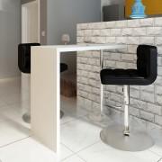 vidaXL magasfényű fehér MDF bárasztal 1 acél lábbal