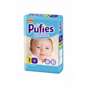 Scutece Pufies Sensitive 3 Midi, Maxi Pack, 66 buc