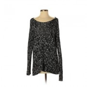 Abercrombie & Fitch Pullover Sweater: Black Animal Print Tops - Size X-Small