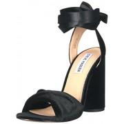 Steve Madden Women's Clary-v Dress Sandal, Black Velvet, 5.5 M US