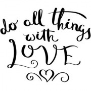 do all things poster|valentine poste|love birds poster|poster for lovers|size(12x18 inch) wall sticker poster