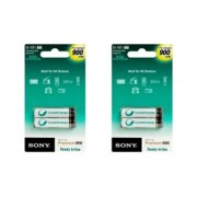 2 Paquetes Con 2 Pilas C/u Cycle Energy SONY Recargable AAA ,750mah