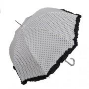 Clayre & Eef W4PLU0001N Esernyő 93x90cm fehér szives