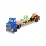 Camion transportor cu platforma cu utilaje de constructii Melissa Doug