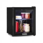 Klarstein Brooklyn 32L, хладилник, A, LED, пластови рафта, стъклени вратички, черен (HEA-Brooklyn-36)
