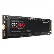 Твърд диск SSD Samsung 970 PRO Series, 512 GB 3D V-NAND Flash, NVMe M.2 (PCIe Slot), MZ-V7P512BW